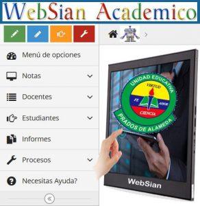 Imagen de websian para ingresar a la plataforma academica